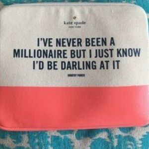kate spade tablet/makeup pouch